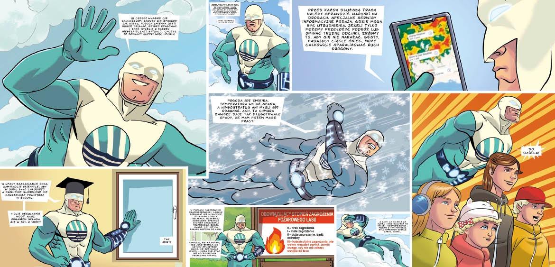 IMGW Weatherman komiks
