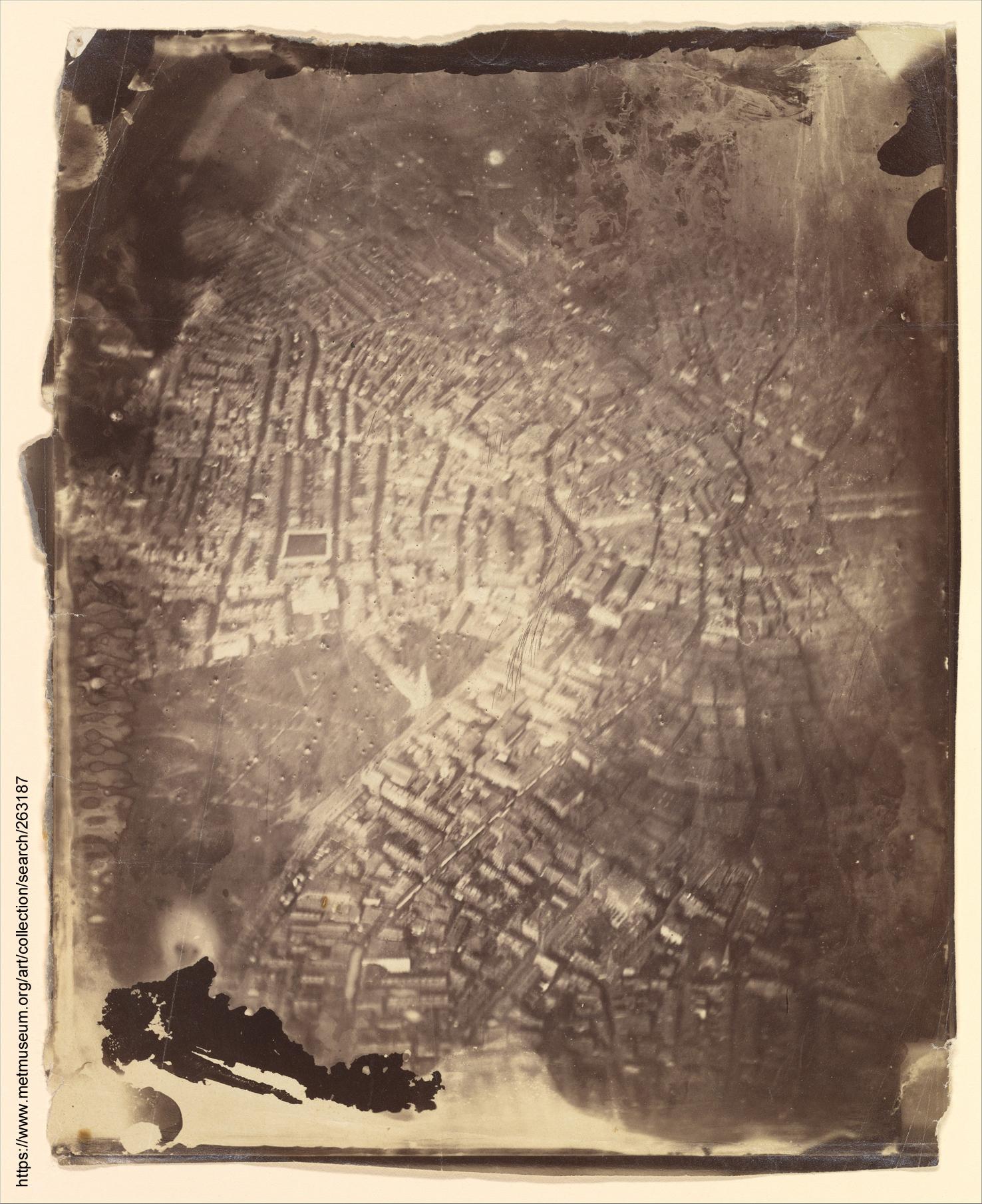 Najstarsze zachowane zdjęcie z powietrza; Boston, 1860