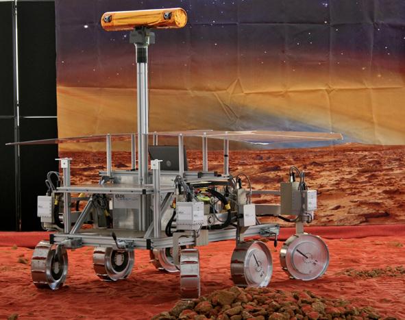 Model marsjańskiego łazika ESA według projektu z 2009 roku (źródło: www.mikepeel.net)