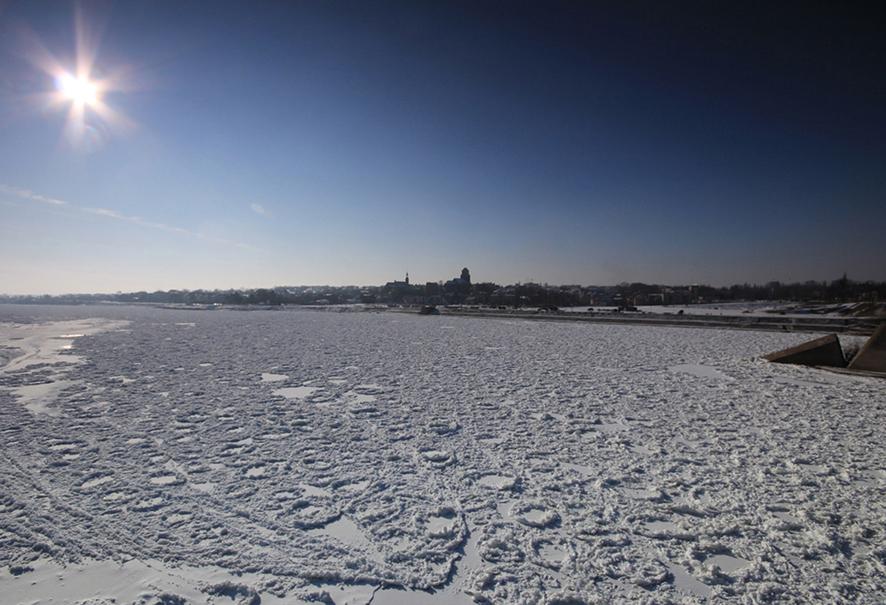Pokrywa lodowa na Wiśle – Tczew (fot. IMGW-PIB)
