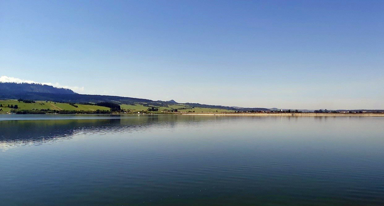 Zbiornik Jezioro Czorsztyńskie; fot. Tomasz Walczykiewicz, IMGW-PIB.