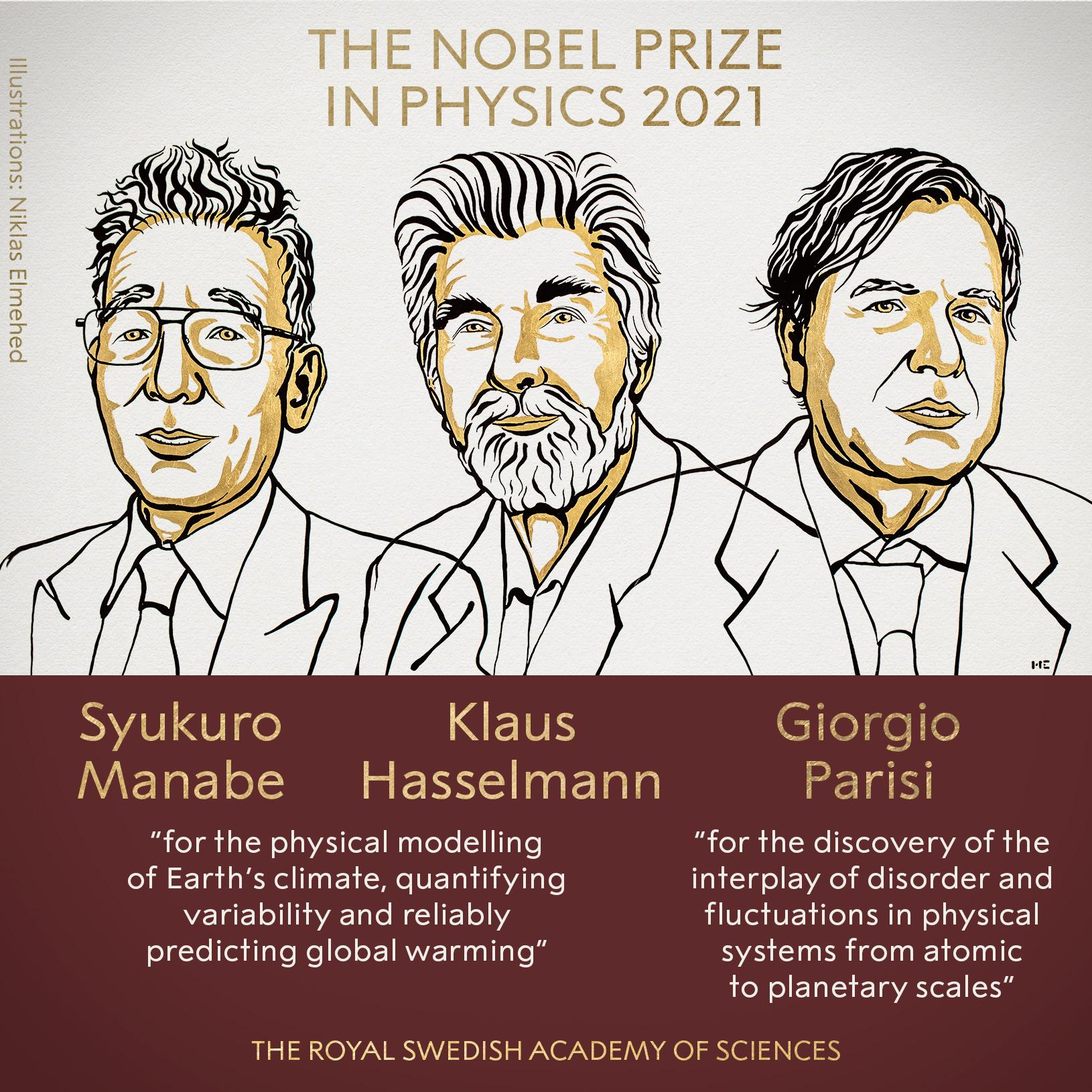 Laureaci Nagrody Nobla w dziedzinie fizyki 2021.